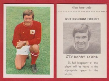 Nottingham Forest Barry Lyons